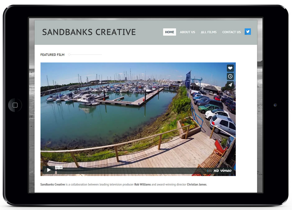 ipad-land-sandbanks creative