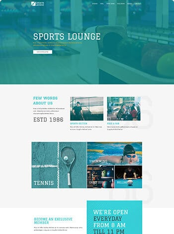 Sport Lounge Website