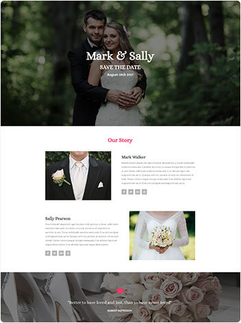 Wedding Website Sample