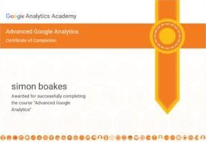 Google Analytics Advanced Certificate
